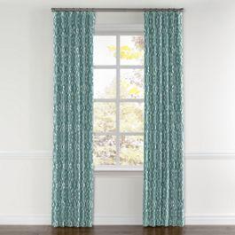 Aqua Blue Diamond Curtains with Pocket Close Up