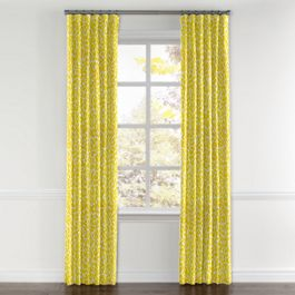 Yellow Leopard Print Curtains with Pocket Close Up
