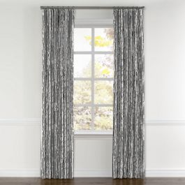 Black & White Bamboo Curtains with Pocket Close Up
