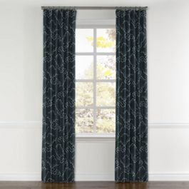 Navy Blue Cloud Curtains with Pocket Close Up