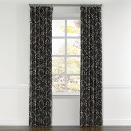 Charcoal Gray Cloud Curtains with Pocket Close Up