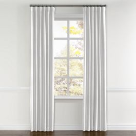 Bright White Gauzy Linen Curtains with Pocket Close Up