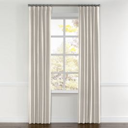 Ivory Gauzy Linen Curtains with Pocket Close Up