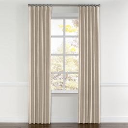 Light Beige Gauzy Linen Curtains with Pocket Close Up