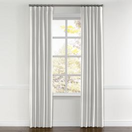 Ivory Linen Curtains with Pocket Close Up