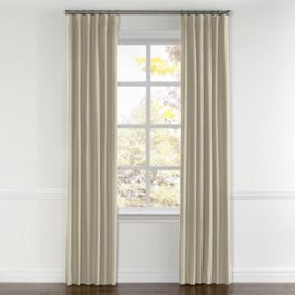Beige Linen Curtains with Pocket Close Up