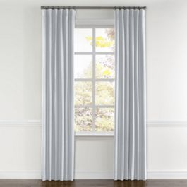 Pale Blue Linen Curtains with Pocket Close Up