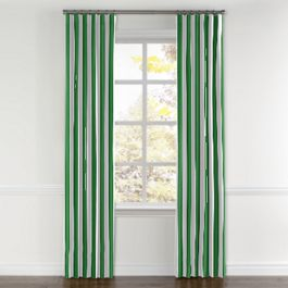 Green Awning Stripe Curtains with Pocket Close Up