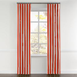 Red Awning Stripe Curtains with Pocket Close Up
