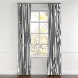 Navy & White Stripe Curtains with Pocket Close Up