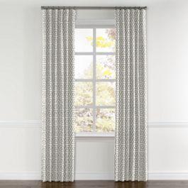 Light Gray Trellis Curtains with Pocket Close Up