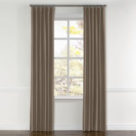 Taupe Sunbrella® Canvas Curtains with Pocket Close Up