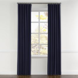 Navy Blue Sunbrella® Canvas Curtains with Pocket Close Up
