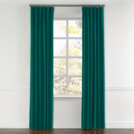 Teal Sunbrella® Canvas Curtains with Pocket Close Up