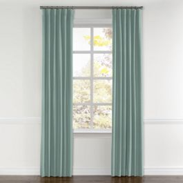 Seafoam Sunbrella® Canvas Curtains with Pocket Close Up