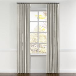Gray Awning Stripe Curtains with Pocket Close Up