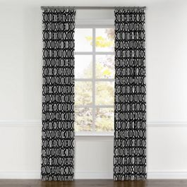 Black & White Trellis Curtains with Pocket Close Up