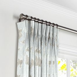 Gray Koi Fish Pleated Curtains Close Up