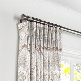 Light Gray Marble Pleated Curtains Close Up