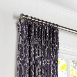 Black & White Diamond Pleated Curtains Close Up