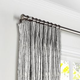 Black & White Bamboo Pleated Curtains Close Up