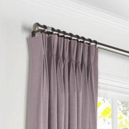 Light Purple Sunbrella® Canvas Pleated Curtains Close Up