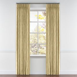 Ivory Medallion Trellis Pleated Curtains Close Up