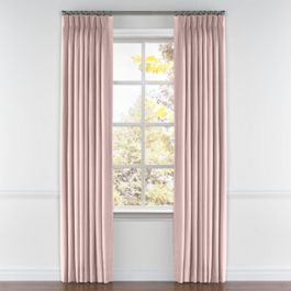 Pastel Pink Linen Pleated Curtains Close Up