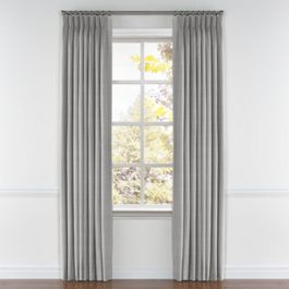 Black Ticking Stripe Pleated Curtains Close Up