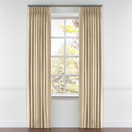 Metallic Gold Stripe Pleated Curtains Close Up