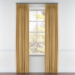 Metallic Gold Linen Pleated Curtains Close Up