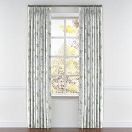 Gray Koi Fish Pleated Curtains Close Up