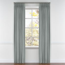 Light Gray Velvet Pleated Curtains Close Up