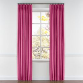 Hot Pink Dotted Stripe Pleated Curtains Close Up