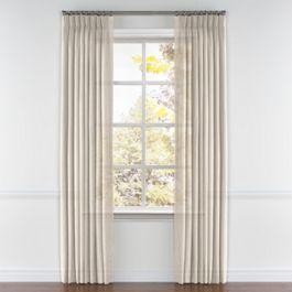 Light Beige Gauzy Linen Pleated Curtains Close Up