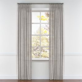 Light Gray Gauzy Linen Pleated Curtains Close Up
