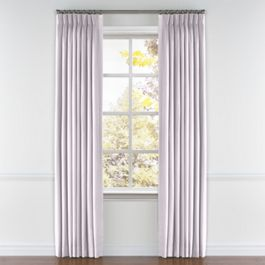 Light Purple Linen Pleated Curtains Close Up