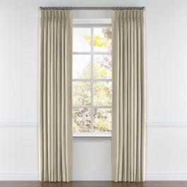 Tan Sunbrella® Canvas Pleated Curtains Close Up