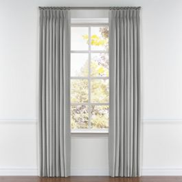 Flecked Gray Sunbrella® Canvas Pleated Curtains Close Up