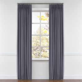 Gray Sunbrella® Canvas Pleated Curtains Close Up
