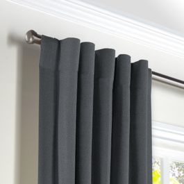 Warm Gray Velvet Back Tab Curtains Close Up