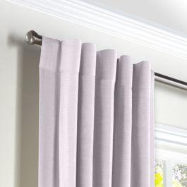 Light Purple Linen Back Tab Curtains Close Up