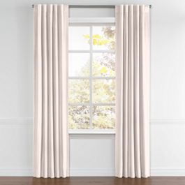 Light Pink Slubby Linen Back Tab Curtains Close Up