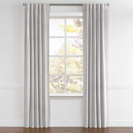 Purple Gray Slubby Linen Back Tab Curtains Close Up