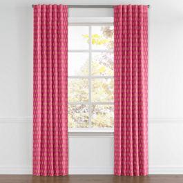 Pink & Orange Diamond Back Tab Curtains Close Up