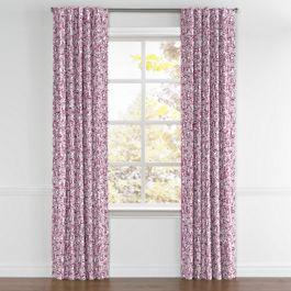 Seafoam & Purple Scallop Back Tab Curtains Close Up