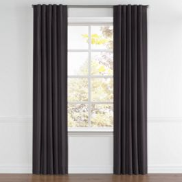 Charcoal Gray Velvet Back Tab Curtains Close Up