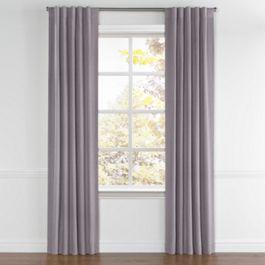 Lavender Gray Velvet Back Tab Curtains Close Up