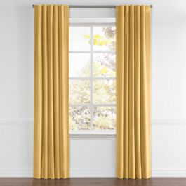 Golden Tan Velvet Back Tab Curtains Close Up