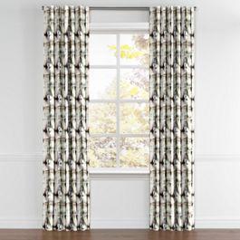 Black & White Shibori Back Tab Curtains Close Up